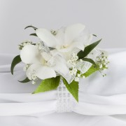 Beaded Dendrobium Orchid Wrist Corsage