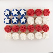 24ct Flag Cupcakes